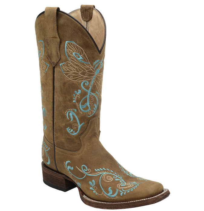 L5123 Women's Corral Dragonfly Square Toe Cowboy Boot