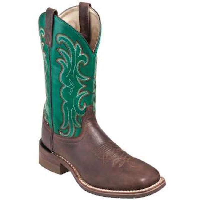 DP69833 Men's Dan Post Green Farrier Square Toe Cowboy Boot