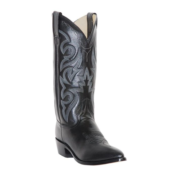 DP2110R Men's Dan Post Black Milwaukee R Toe Cowboy Boot