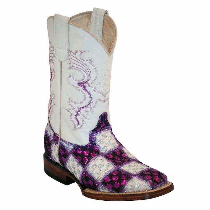 7139348 Kid's Ferrini Patchwork Cowboy Boot