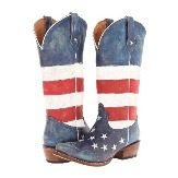 921701206RE Women's Roper American Flag Snip Toe Cowboy Boot