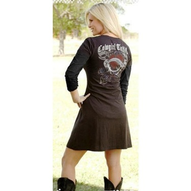 H00160 Women's Cowgirl Tuff Long Sleeve Dress