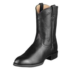 35501 Men's Ariat Black Heritage Roper Cowboy Boot