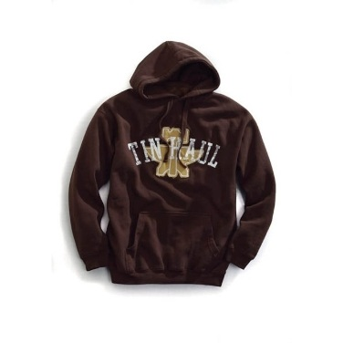 1097300735BR Men's Tin Haul Brown Hoodie with Tin Haul Print