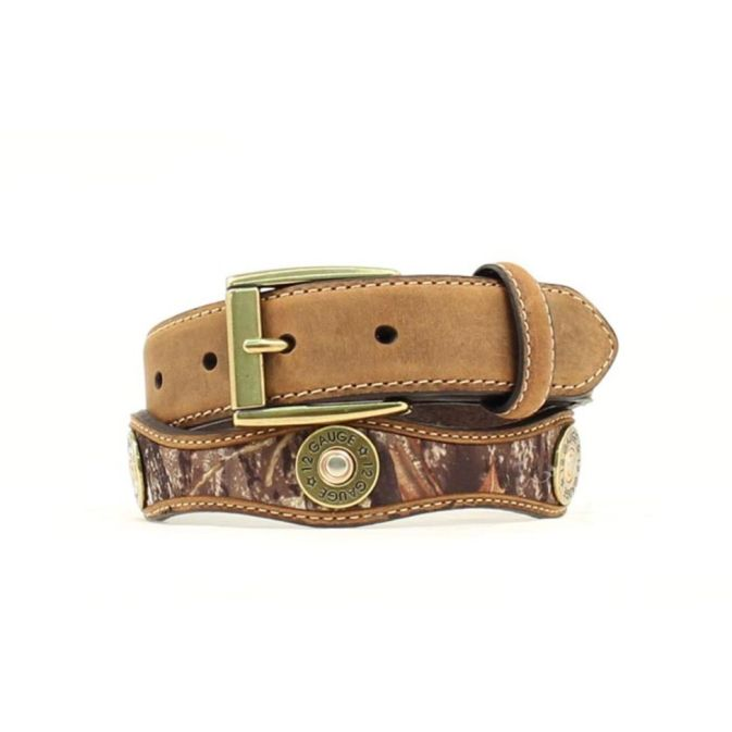 N44182222 Children's Nocona Mossy Oak Shotgun Shell Conchos Belt