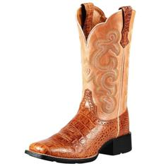 "10010943 Women's Ariat Quickdraw 11"" Roper Cowboy Boot"