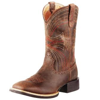 10010963 Men's Ariat Sport Wide Square Toe Roper Cowboy Boot