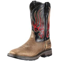 10010146 Men's Ariat Workhog Square Toe Mesteno Cowboy Boot