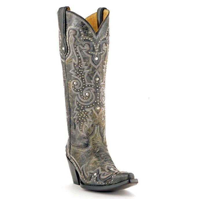 Corral Embroidered and Studded Cowgirl Boot