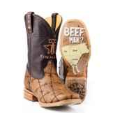 "142000070081BR Men's Tin Haul ""Don't Fence Me In"" Cowboy Boot"