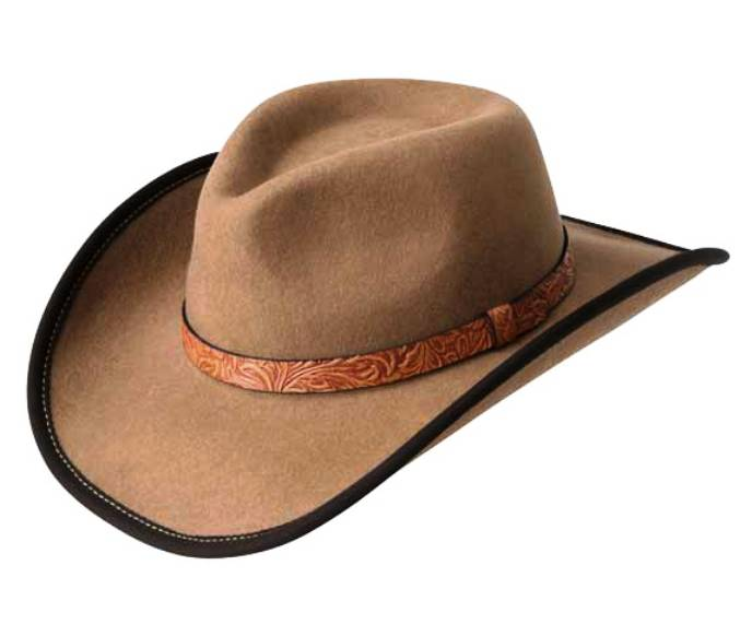 W12LFU Ezra Brown Cowboy Hat by Bailey