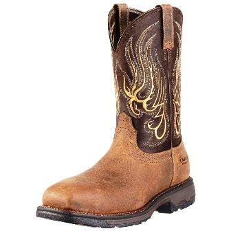 10010892 Men's Ariat Workhog Square Toe Mesteno Comp Toe Boot
