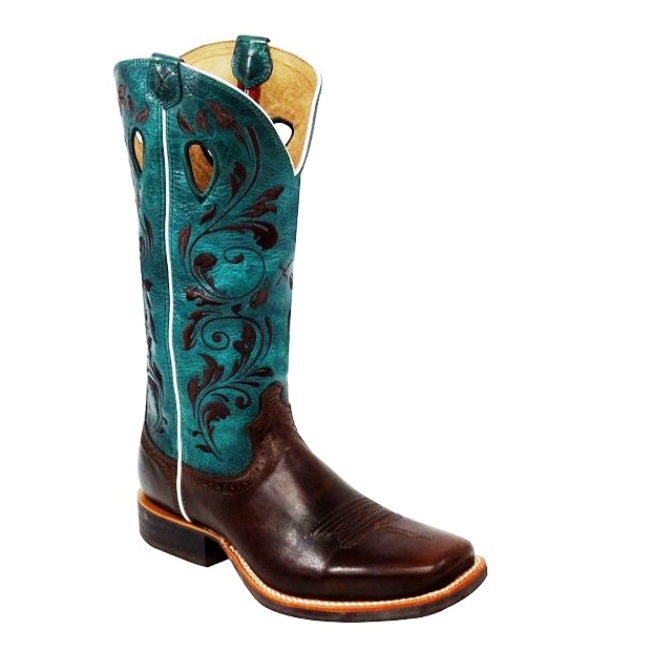 WRS0021 Womens Twisted X Ruff Stock Square Toe Roper Cowboy Boot