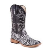 9211901059BL Women's Roper Zebra and Glitter Cowgirl Boots